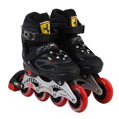 Ferrari FS4 Inline Skate Velvet PU Wheel Junior Children Roller Skating Shoes