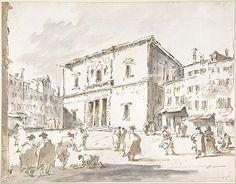 Francesco Guardi | The Fenice Theater in Venice (recto); Fragment ...