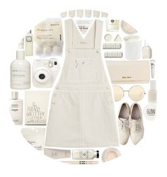 """""""#45"""" by idonthavebrains ❤ liked on Polyvore featuring Maison Margiela, Victoria Beckham, Firth, Davines, Miu Miu, Fuji, Orla Kiely, Essie, Carol's Daughter and AG Adriano Goldschmied"""