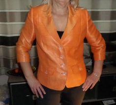 Haute-Couture-Stewart-Parvin-orange-tangerine-jacket-blazer-style-36-38-bust