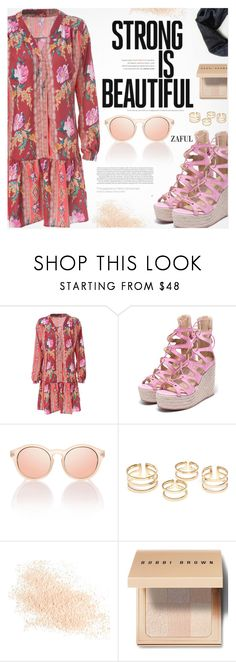 """""""Stay Strong!"""" by pokadoll ❤ liked on Polyvore featuring Therapy, Eve Lom, Bobbi Brown Cosmetics, polyvoreeditorial, polyvorefashion, polyvoreset and zaful"""