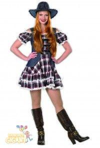 Country Girl, Cowgirl Kostüm, Western Lady Western Girl Frauen