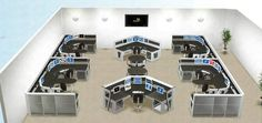 call center layout design - Google Search