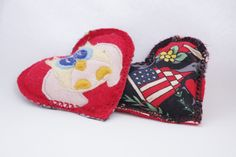 Pocket hand warmers Little owl applique Red Heart by MKTdesign, $11.00