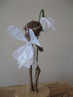 Fairy Sculpture. Snowdrops.  Flower fairies. Bridesmaids gifts. Made to order