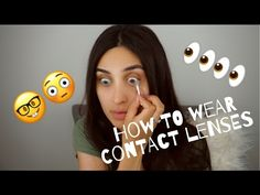 How to wear/take off contact lens - YouTube