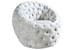 Egg Chair by Phillips Collection on Gilt Home Metal Chairs, Cool Chairs, Blue Dining Room Chairs, White Chairs, Dining Table, Phillips Collection, Room Planning, Chesterfield Chair, Armchair