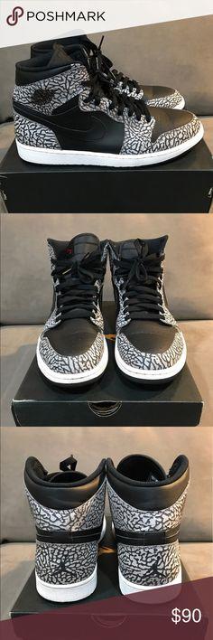 Air Jordan 1 Retro Black Cement Size 12 Great Deal! Nike Shoes Sneakers