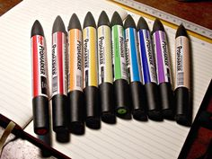 My new set of Letraset Promarkers!