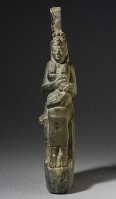 Isis Suckling Horus Egypt, Third Intermediate Period circa 24th Dynasty Sculpture