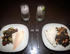 Channeling a little @symmetrybreakfast for dinner as I steam plaice and pair it with sweet chilli veggies and mixed beans glazed in agave nectar #bbbrecipes