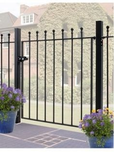 Manor Single Gates - Garden Oasis Bee Friendly, Front Gates, Garden Oasis, Wrought Iron, Stairs, Construction, Outdoor Structures, Metal, Bespoke