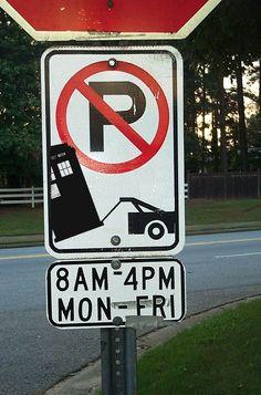 TARDIS - No Parking