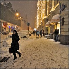 Nikolskaya street by Dmitry Ryzhkov on 500px. Russia