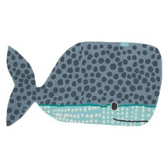 Hand Tufted Buddy The Whale Rug