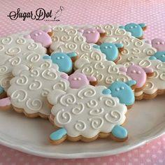 Sheep Sugar Cookies with Royal Icing
