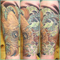 Japanese inspired tattoo, Japanese Tattoo, Asian Tattoo, Octopus Tattoo, Sleeve Tattoo, Color Tattoo, Berlin Tattoo Artists