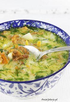 Zupa kurkowa z koperkiem, 1 Soup Recipes, Great Recipes, Vegan Recipes, Iran Food, Vegan Runner, Vegan Gains, Polish Recipes, Polish Food, Food L