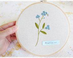 Clearance Sale Hand embroidery in hoop by KawaiiSakuraHandmade
