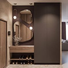 Hallway lighting ideas entrance halls mirror 20 new ideas Foyer Design, Hallway Designs, Entrance Design, Home Hall Design, Hallway Ideas, Wardrobe Door Designs, Wardrobe Design Bedroom, Hall Wardrobe, Modern Wardrobe