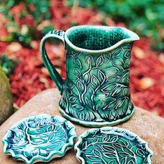 This is the test result of my own stamp carved with #speedycarve. : : #pottery #handmadepottery #pottersofinstagram #potterylove #ceramics #ceramica #mug #porcelain #keramika #ceramicstudio #ceramicartist #artdesign #kitchenaccesories #kitchendecor #ceramicstamp #handbuilding #speedycarveblock #creamer #potterytechniques #handcarved #handcrafted