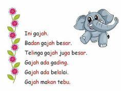 Kindergarten Reading Activities, Preschool Learning, Kindergarten Worksheets, Literacy Activities, Learn English Grammar, English Lessons, Indonesian Language, Reading Material, Kids Education