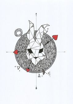Geometric l Line l White Rabbit . Alice In Wonderland Alice : How long is forever? White Rabbit : Sometimes just one second. https://www.facebook.com/mydoodley/