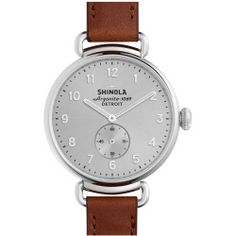 Women's Shinola The Canfield Leather Strap Watch, 38Mm