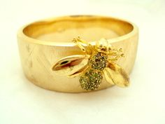 Misis of Italy Wide Bangle Bracelet with Bumblebee – 925   $150.00