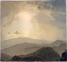 "Frederic Edwin Church, ""Hilltop at sunset"", July 1865"
