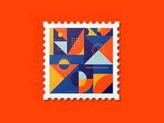 Abstract Stamp by @joshuadwarren #dribbble #dribbblers #graphicdesign # design #illustration #stamp