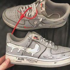 Custom Sneakers, Sneakers Nike, All Nike Shoes, Hype Shoes, Custom Vans, Sneaker Art, Nike Air Force, Nike Air Max, Air Max 95