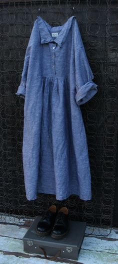 Grey Stone Washed Linen Dress MegbyDesign