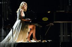 """Taylor Swift Performing """"All Too Well"""" at the Grammys 2014. Taylor Swift 13, Swift 3, All Is Well, She Song, Backstage, Grecian Gown, 2014 Music, Standing Ovation, Taylor Dress"""