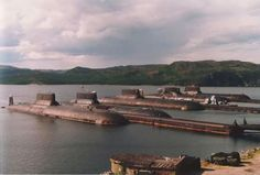 5 of the world's largest submarines of Typhoon class In dock