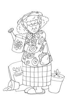 Free Dearie Dolls Digi Stamps: Garden Granny