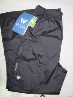 White Sierra Youth Medium Boys Girls Black Packable Trabagon Rain Pant New Black #WhiteSierra #RainGear #Rain