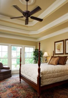 this looks like our ceiling in our master, foyer, and living room! Love they painted the ceiling too!
