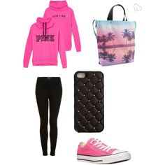 Chillin' by tdance0594 on Polyvore featuring polyvore, fashion, style, Victoria's Secret, Topshop, Converse, Aéropostale and 2Me Style