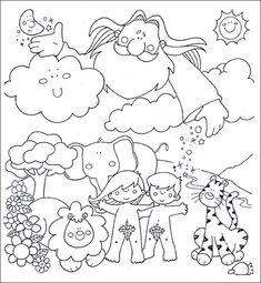 Seven Days of Creation Sunday School Activities, Toddler Learning Activities, Bible Activities, Creation Preschool Craft, Creation Crafts, Creation Coloring Pages, Cute Coloring Pages, Bible Story Crafts, Bible Stories