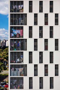 Conjunto Habitacional do Jardim Edite  / MMBB Arquitetos + H+F Arquitetos #gevel #ritmiek #compositie
