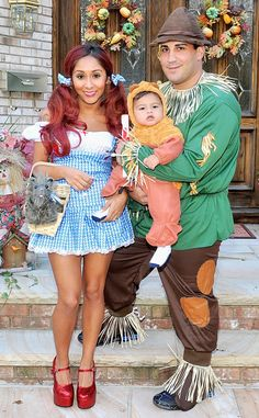 Snooki, her fiancé Jionni LaValle, and their son Lorenzo are too cute in their Halloween costumes!