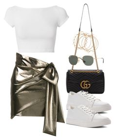 """""""Sin título #3592"""" by camilae97 ❤ liked on Polyvore featuring Helmut Lang, Yves Saint Laurent, Gucci, Kenneth Cole and Ray-Ban"""