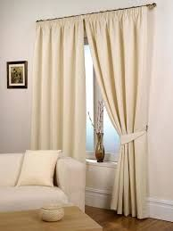 Simple plain curtain for simple living interior looks.
