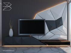 Lcd Units, Tv Unit Design, Living Room Tv, Tv Cabinets, Herb, The Unit, House Design, Logo, Interior Design