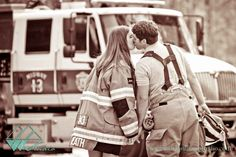 Ideas for firefighter engagement pictures