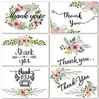48 Bulk Thank You Cards Floral Flower Thank You Notes for Wedding, Valentine's Day, Baby Shower, Bridal Shower, 6 Design 4 x 6 inch Blank Thank U Cards with Adhesive Brown Craft Envelopes Thank You Note Cards, Baby Shower Thank You, Recycled Bride, Blank Cards, Floral Flowers, Floral Wreath, Floral Watercolor, Wedding Stationery, Office Stationery