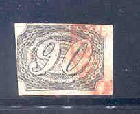 Brazil, Scott No. 10, issued July 1, 1844