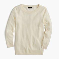 BREE: J Crew Tippy sweater, Ivory, size L