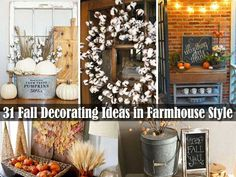 38 Fall Decorating Ideas in The Style of Farmhouse Give your home decor a cozy farmhouse makeover this Fall. These farmhouse Fall decor ideas will give your home a rustic, country look. There are over 30 ideas for indoor and outdoor decor. Have a look through these amazing homes, as their are chalk full of … Continue reading »